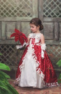 """""""Holiday Grandeur""""... A girls boutique christmas dress"""