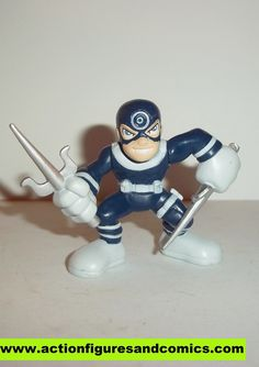 Hasbro MARVEL SUPER HERO SQUAD pvc action figures BULLSEYE condition: excellent - displayed only/collectable condition figure size: 2 inch -------------------------------------------------------------