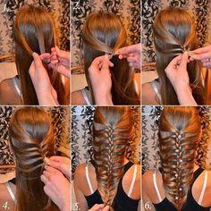 ARTE COM QUIANE - Paps,Moldes,E.V.A,Feltro,Costuras,Fofuchas 3D: passo a passo trança de cabelo diferente
