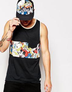 Image 1 of Vans X Disney Vest In Mickey And Friends Print