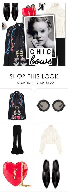 """Put a Bow on It!"" by vampirella24 ❤ liked on Polyvore featuring Temperley London, Christopher Kane, Off-White, Yves Saint Laurent and Zara"