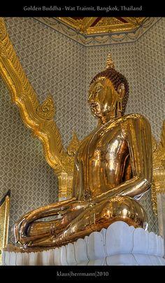 Golden Buddha - Wat Traimit, Bangkok, Thailand (HDR)   Flickr - Photo Sharing!