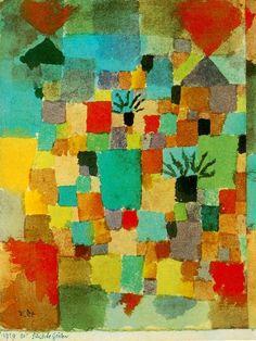 Jardines Tunecinos 1919 Todo o nada: Paul Klee / Pintor de sueños