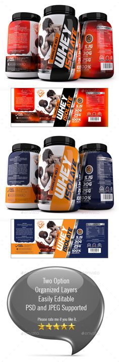 Buy Whey protein Label Template by graphicgrow on GraphicRiver. Hi, This is High quality Whey Protein Label Template. Features: Two Template Easy Customizable and Editable CMYK Colo. Label Design, Flyer Design, Logo Design, Package Design, Label Templates, Print Templates, Apples To Apples Game, Satisfying Video, Whey Protein