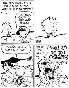 """Quoting wikipedia, """"Calvin and Hobbes is a daily American comic strip created by cartoonist Bill Watterson that was syndicated from November Best Calvin And Hobbes, Calvin Und Hobbes, Calvin And Hobbes Quotes, Calvin And Hobbes Comics, Funny Quotes, Funny Memes, Hilarious, Funny Cartoons, Funny Comics"""