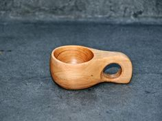 birch wood cup