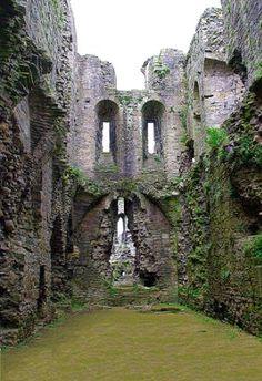 Ruins of Middleham Castle. Childhood home of Richard III