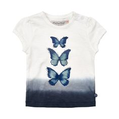 Minymo girls butterfly top with dye dip effect and small glittery stones on the butterfly wings. Butterfly Top, Butterfly Wings, Girl Outfits, Girls, Clothing, Cotton, Mens Tops, Fashion, Baby Clothes Girl