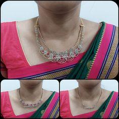 2 Layer Detachable Diamond Necklace