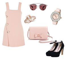 """""""Pink style"""" by nastya-kld6 ❤ liked on Polyvore featuring Ted Baker, Marni and Christian Dior"""