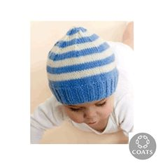 Knitted Babies' Hat Pattern by Red Heart - FREE Knitting Pattern