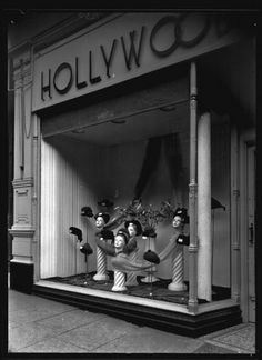 Hollywood Fashions Ltd, a milliners shop in Central Arcade, 1947 Newcastle