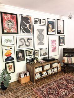 gallerywall gallerywall, postermuur, vintage, eclectic, home living room