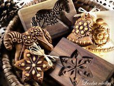 perníky z dřevěné formy