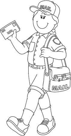 Community Helpers Coloring Pages for Preschoolers. Lovely Community Helpers Coloring Pages for Preschoolers. Pin On Munity Helpers Coloring For Kids, Coloring Pages For Kids, Coloring Books, Mailman Crafts, People Who Help Us, Community Helpers Preschool, Community Workers, Nemo, Art Drawings For Kids