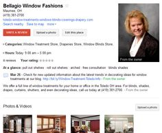 Bellagio Window Fashions on Google Places