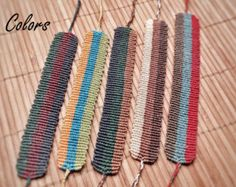 Handmade Bracelet Macrame Jewelry Wristbands by MacrameBrazilian Macrame Bracelet Diy, Macrame Knots, Micro Macrame, Macrame Jewelry, Finger Weaving, Loom Weaving, String Crafts, Diy Jewelry Inspiration, Macrame Projects