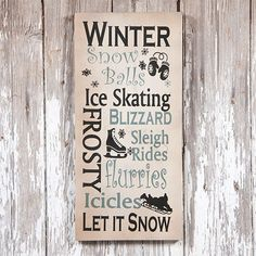 Winter Typeography Sign