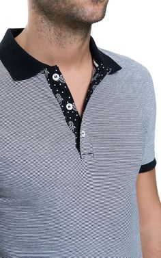POLO MULTIRAYA - Camisetas - Hombre - ZARA El Salvador Camisa Polo, Boy Fashion, Mens Fashion, Fashion Outfits, M&s Shirts, Polo T Shirts, Mens Golf, Athletic Wear, Shirt Designs