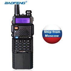 Cb radio walkie talkie de doble banda baofeng uv-5r 3800 mah max 5 w Transmisor de Radio de Jamón de Radio de Dos Vías uv5r Raido hf transceptor
