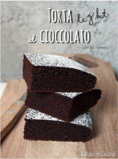 Torta Light al Cioccolato, senza uova - Light Chocolate Cake
