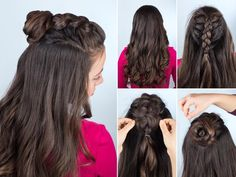 Cute Everyday Hairstyles, Cute Hairstyles For Teens, Teen Hairstyles, Different Hairstyles, Elegant Hairstyles, Loose Hairstyles, Wedding Hairstyles, Summer Hairstyles, Interview Hairstyles