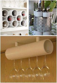 Organização Com Tubos de PVC