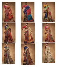 """""""Likeable Multicolor Digital Print Work Silk Saree For Party"""" by designersandyou ❤ liked on Polyvore featuring modern"""