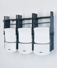 Take a look at the Gray Large Folding Chair Rack on #zulily today!