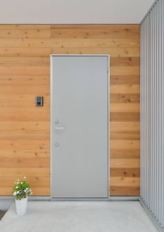 Steel and wooden house- スチールと木の家 Steel and wooden house - House Doors, Garage Doors, Types Of Doors, Wooden House, Steel Doors, Tall Cabinet Storage, Art Deco, Architecture, Outdoor Decor
