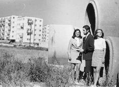 """1969 r. """"w tym miejscu znajduje się teraz targ przy ul. Wileńskiej, widok na bloki przy ul. Skierki"""" źródło; Lubelska Agora Modernizmu"""