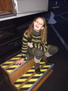 Behind the scenes Clare Foley as Ivy Pepper in Gotham