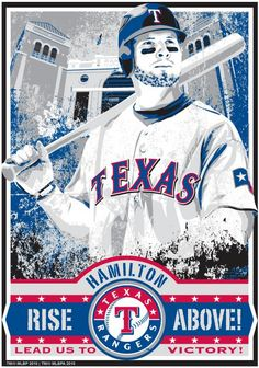 Josh Hamilton  Texas Rangers Baseball Screen - Going to miss him