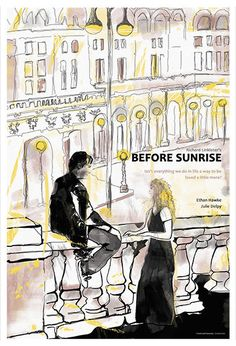 Before Sunrise Alternative Movie Poster by TerminalPresents