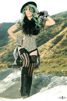 Danger Ninja Productions Liked · February 20   Another photo of Vivka from my Ladies of Steampunk Bronze Age feature. Makeup/hair Morgan Panter, wardrobe LoriAnn Costume Designs — with Vivid Vivka. Tags: LoriAnn Costume Designs