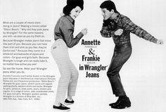 Annette Funicello & Frankie Avalon for Wrangler Jeans