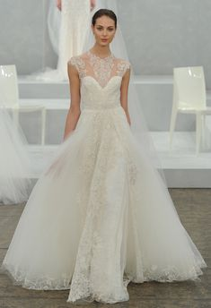 Monique Lhuillier (PV 2015) #weddingdresses #vestidodenovia #NYBW