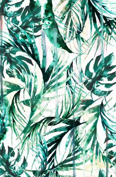 Nikki Strange Green Tropical paradise Art Print