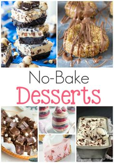 No Bake Desserts! Easy dessert recipes to share with your friends and family!