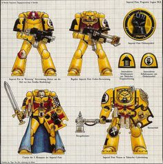 Warhammer 40k Art, Warhammer 40k Miniatures, Character Drawing, Character Design, Marine Baby, Marine Colors, The Horus Heresy, Imperial Fist, Suit Of Armor