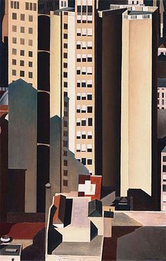 Charles Sheeler - Skyscrapers, 1922