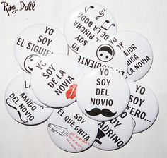 "Chapas para bodas ""Yo Soy"" Dream Wedding, Wedding Dreams, Wedding Designs, Ideas Para, Reception, Wedding Inspiration, 3, Gifts, Party Ideas"