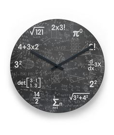 Mathematics Clock Wall - Home Decor Math Clock, Science Bedroom, Wall Clock Design, Clock Wall, Love Math, Diy Clock, Diy Wall Decor, Home Decor, Home And Deco