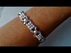 Elegant bracelet with pearls. DIY jewelry making for beginners - Schmuck basteln Diy Jewelry For Beginners, Jewelry Making Tutorials, Jewelry Making Beads, Jewelry Making Supplies, Beaded Jewelry, Beaded Bracelets, Jewellery Making, Jewellery Box, Pearl Bracelet