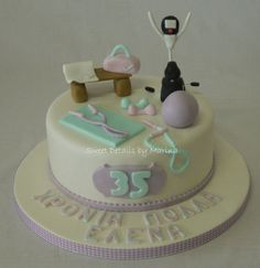 Gym Fanatic cake - by Marina Costa @ CakesDecor.com - cake decorating website Cupcakes, Cake Cookies, Fitness Cake, Gym Fitness, Gym Cake, Its My Bday, Fondant Cakes, Cake Designs, Cake Decorating