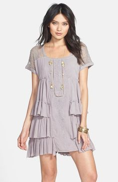 Free People 'Sunbeams' Minidress available in Ivory at #Nordstrom