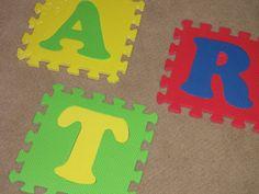 Clean & Scentsible: Kids Art Display spray paint and viola!