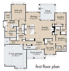 House Plans One Story, Best House Plans, Dream House Plans, Small House Plans, House Floor Plans, Story House, The Plan, How To Plan, Plan Plan