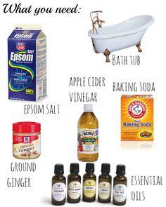 ingredients used in a detox bath