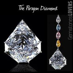 This very unusual 7-sided diamond is known as THE PARAGON 137.82 carats.